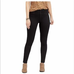 Maurices High Rise black jeans size large regular